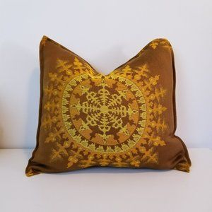 "Vintage Throw Pillow Cushion Cover, 18"" x 18"""